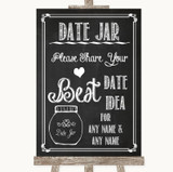 Chalk Sketch Date Jar Guestbook Customised Wedding Sign
