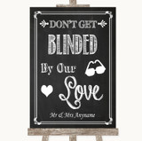 Chalk Sketch Don't Be Blinded Sunglasses Customised Wedding Sign