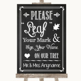 Chalk Sketch Fingerprint Tree Instructions Customised Wedding Sign