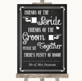 Chalk Sketch Friends Of The Bride Groom Seating Customised Wedding Sign