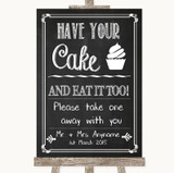 Chalk Sketch Have Your Cake & Eat It Too Customised Wedding Sign