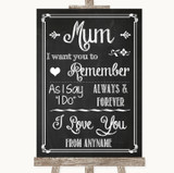 Chalk Sketch I Love You Message For Mum Customised Wedding Sign