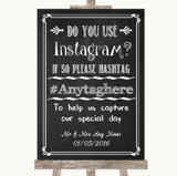 Chalk Sketch Instagram Photo Sharing Customised Wedding Sign