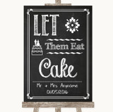 Chalk Sketch Let Them Eat Cake Customised Wedding Sign