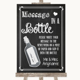 Chalk Sketch Message In A Bottle Customised Wedding Sign