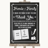 Chalk Sketch Photo Guestbook Friends & Family Customised Wedding Sign