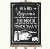Chalk Sketch Photobooth This Way Right Customised Wedding Sign
