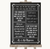Chalk Sketch Romantic Vows Customised Wedding Sign