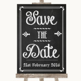 Chalk Sketch Save The Date Customised Wedding Sign