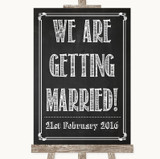Chalk Sketch We Are Getting Married Customised Wedding Sign