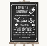 Chalk Sketch Wedpics App Photos Customised Wedding Sign