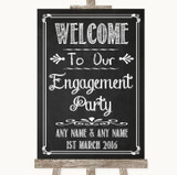 Chalk Sketch Welcome To Our Engagement Party Customised Wedding Sign