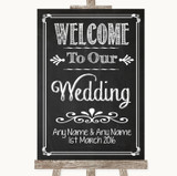 Chalk Sketch Welcome To Our Wedding Customised Wedding Sign