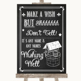 Chalk Sketch Wishing Well Message Customised Wedding Sign