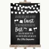 Chalk Style Black & White Lights Photo Prop Guestbook Customised Wedding Sign