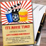 Movie Night Cinema Customised Children's Birthday Party Invitations