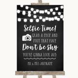 Chalk Style Black & White Lights Selfie Photo Prop Customised Wedding Sign