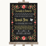 Chalk Style Blush Pink Rose & Gold Photo Guestbook Friends & Family Wedding Sign