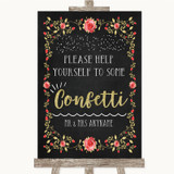 Chalk Style Blush Pink Rose & Gold Take Some Confetti Customised Wedding Sign