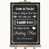Chalk Style All Family No Seating Plan Customised Wedding Sign