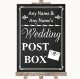 Chalk Style Card Post Box Customised Wedding Sign