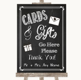 Chalk Style Cards & Gifts Table Customised Wedding Sign