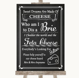 Chalk Style Cheese Board Song Customised Wedding Sign