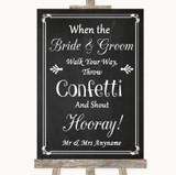 Chalk Style Confetti Customised Wedding Sign