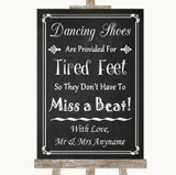 Chalk Style Dancing Shoes Flip-Flop Tired Feet Customised Wedding Sign