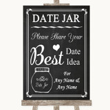 Chalk Style Date Jar Guestbook Customised Wedding Sign