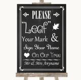 Chalk Style Fingerprint Tree Instructions Customised Wedding Sign