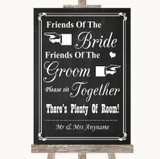 Chalk Style Friends Of The Bride Groom Seating Customised Wedding Sign