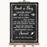 Chalk Style Grab A Bag Candy Buffet Cart Sweets Customised Wedding Sign