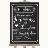 Chalk Style Hankies And Tissues Customised Wedding Sign