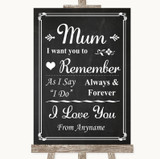 Chalk Style I Love You Message For Mum Customised Wedding Sign