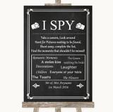 Chalk Style I Spy Disposable Camera Customised Wedding Sign