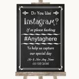 Chalk Style Instagram Photo Sharing Customised Wedding Sign