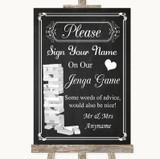 Chalk Style Jenga Guestbook Customised Wedding Sign