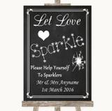 Chalk Style Let Love Sparkle Sparkler Send Off Customised Wedding Sign