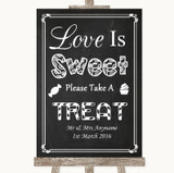Chalk Style Love Is Sweet Take A Treat Candy Buffet Customised Wedding Sign