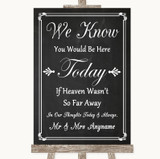 Chalk Style Loved Ones In Heaven Customised Wedding Sign