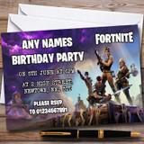 Fortnite Customised Children's Birthday Party Invitations