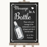 Chalk Style Message In A Bottle Customised Wedding Sign