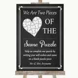 Chalk Style Puzzle Piece Guest Book Customised Wedding Sign