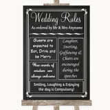 Chalk Style Rules Of The Wedding Customised Wedding Sign