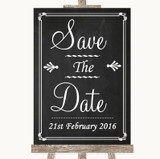 Chalk Style Save The Date Customised Wedding Sign