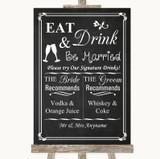 Chalk Style Signature Favourite Drinks Customised Wedding Sign