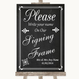 Chalk Style Signing Frame Guestbook Customised Wedding Sign