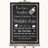 Chalk Style Wedpics App Photos Customised Wedding Sign