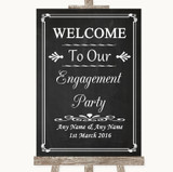 Chalk Style Welcome To Our Engagement Party Customised Wedding Sign